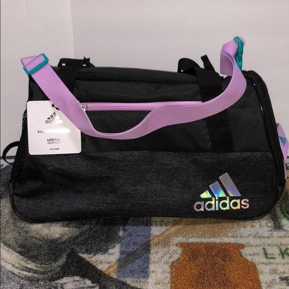 2270539464e adidas Bags   Squad Lll Black Lilac Aqua Duffle Bag   Poshmark